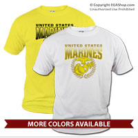 _T-Shirt (Unisex): United States Marines (Yellow)