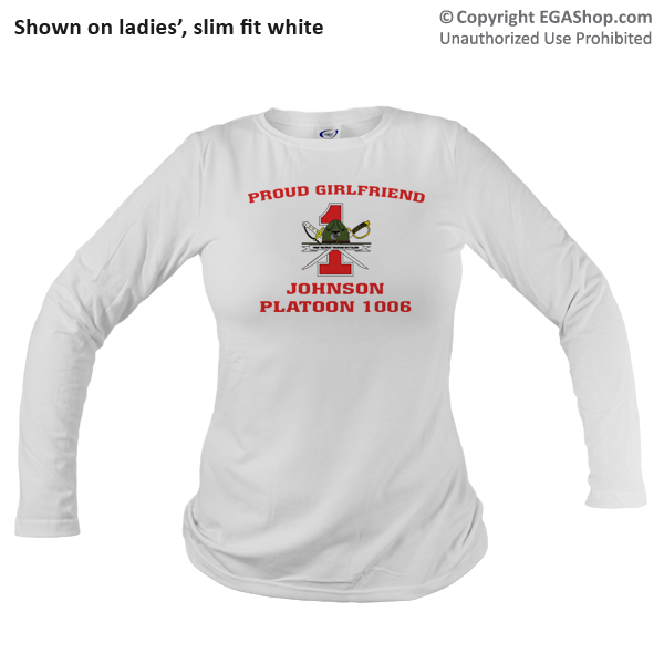 _Long Sleeve Shirt (Unisex): 1st Battalion Crest