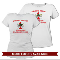 _T-Shirt (Ladies): 1st Battalion Crest