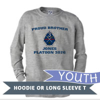 _Youth Hoodie or Long Sleeve Shirt: 3rd Battalion Crest