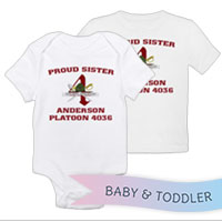 _T-Shirt/Onesie (Toddler/Baby): 4th Battalion Crest