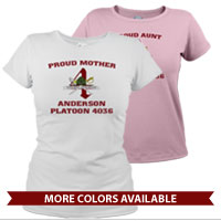 _T-Shirt (Ladies): 4th Battalion Crest