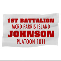 Rally Towel: 1st Battalion MCRD w/ Name/Platoon