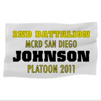 Rally Towel: 2nd Battalion MCRD w/ Name/Platoon