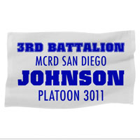Rally Towel: 3rd Battalion MCRD w/ Name/Platoon