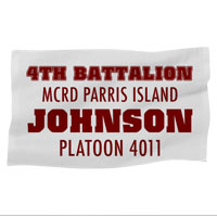 Rally Towel: 4th Battalion MCRD w/ Name/Platoon