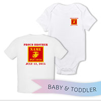 _T-Shirt/Onesie (Toddler/Baby): 1st Battalion Guidon
