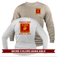 _Long Sleeve Shirt (Unisex): 1st Battalion Guidon