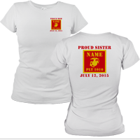 _T-Shirt (Ladies): 1st Battalion Guidon