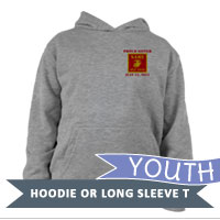 _Youth Hoodie or Long Sleeve Shirt: 1st Battalion Guidon
