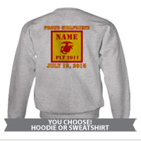 _Hoodie or Sweatshirt: 2nd Battalion Guidon