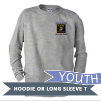 _Youth Hoodie or Long Sleeve Shirt: 3rd Battalion Guidon