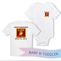 _T-Shirt/Onesie (Toddler/Baby): 4th Battalion Guidon