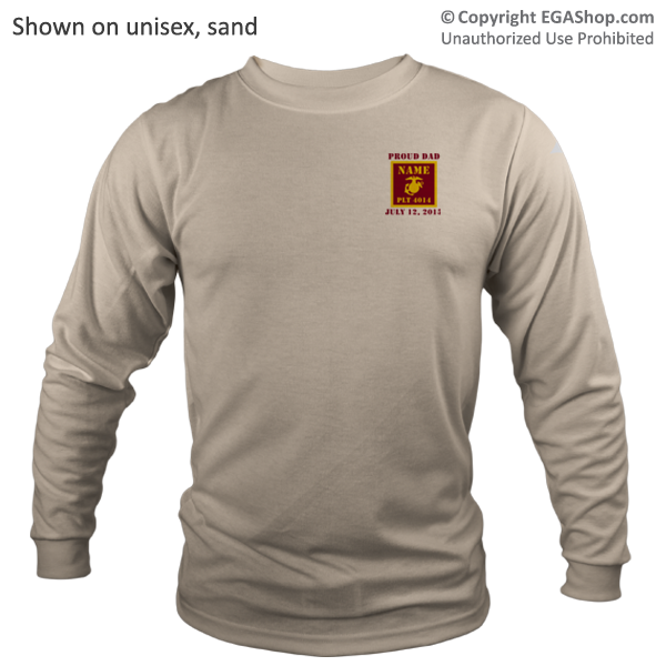 _Long Sleeve Shirt (Unisex): 4th Battalion Guidon