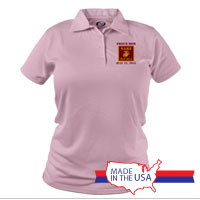 _Polo (Ladies): 4th Battalion Guidon