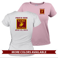 _T-Shirt (Ladies): 4th Battalion Guidon