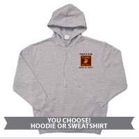 _Hoodie or Sweatshirt: 4th Battalion Guidon