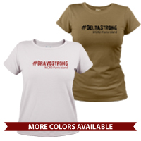 _T-Shirt (Ladies): 1st Battalion Hashtag Strong