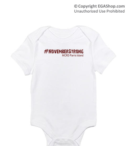_T-Shirt/Onesie (Toddler/Baby): 4th Battalion Hashtag Strong
