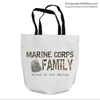 Tote Bag: Camo Family (16x16)