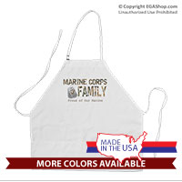 Apron: Camo Family (Black or White)