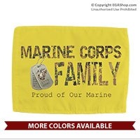 Car Flag: Camo Family (Double-sided, 11x14 w/ pole)