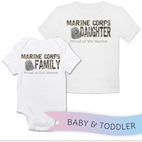 _T-Shirt/Onesie (Toddler/Baby): Camo Family