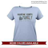 _T-Shirt (Ladies): Camo Family