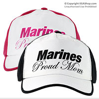 Cap: Marines Proud Mom (Black or Pink)
