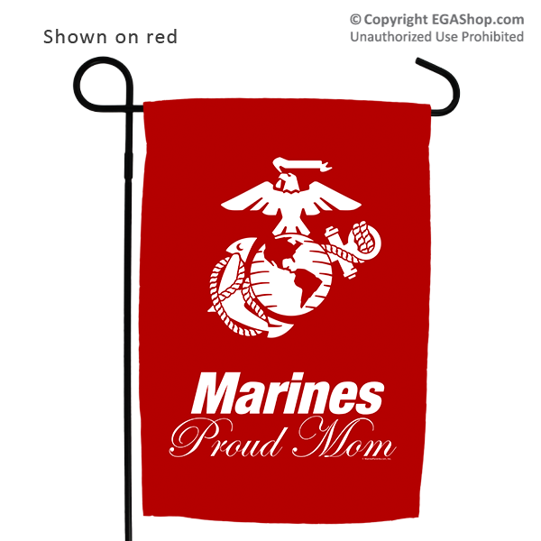 Garden Flag: Marines Proud Mom with EGA