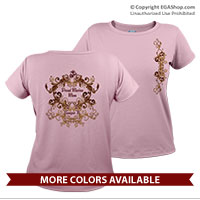_T-Shirt (Ladies): EGA & Scrolls