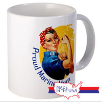 Ceramic Mug: Rosie: Proud Marine Mom/Wife