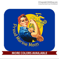 Mousepad: Rosie: Proud Marine Mom/Wife