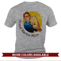 _T-Shirt (Unisex): Rosie: Proud Marine Mom/Wife
