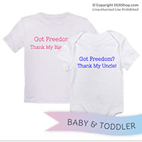 _T-Shirt/Onesie (Toddler/Baby): Got Freedom?