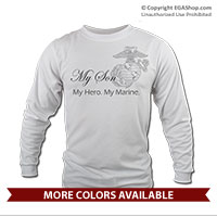 _Long Sleeve Shirt (Unisex): My Hero. My Marine.