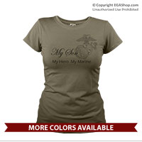 _T-Shirt (Ladies): My Hero. My Marine.