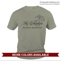 _T-Shirt (Unisex): My Hero. My Marine.