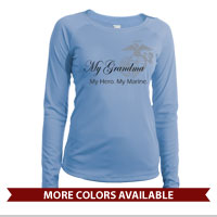 _Long Sleeve Shirt (Ladies, Solar): My Hero. My Marine.