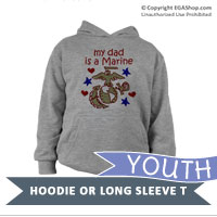 _Youth Hoodie or Long Sleeve Shirt: Kids Art EGA