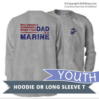 Youth Long Sleeve Shirt: Superhero