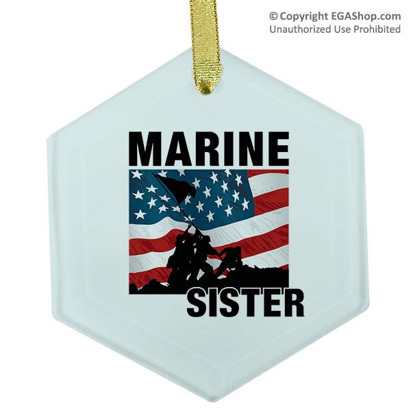 Ornament: Iwo Jima Marine Family (Glass)