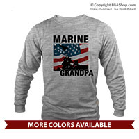 _Long Sleeve Shirt (Unisex): Iwo Jima Marine Family