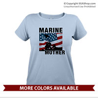 _T-Shirt (Ladies): Iwo Jima Marine Family