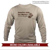 _Long Sleeve Shirt (Unisex): America Calls Them Marine