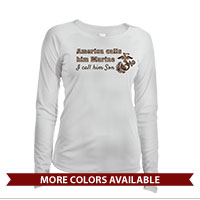 _Long Sleeve Shirt (Ladies, Solar): America Calls Them Marine