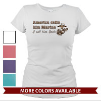 _T-Shirt (Ladies): America Calls Them Marine