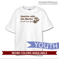 _T-Shirt (Youth): America Calls Them Marine