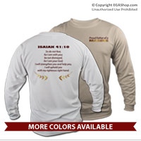 _Long Sleeve Shirt (Unisex): Proud Family Scripture