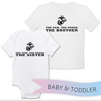 _T-Shirt/Onesie (Toddler/Baby): The Few The Proud -black